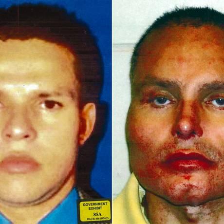 Narcotraficante colombiano Juan Carlos Ramírez Abadía, o 'Chupeta', antes e depois das operações plásticas Foto: - / AFP