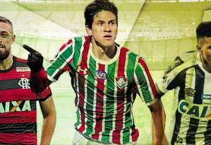 Léo Duarte, Pedro e Rodrygo estão entre as principais revelações do Brasileiro Foto: O Globo