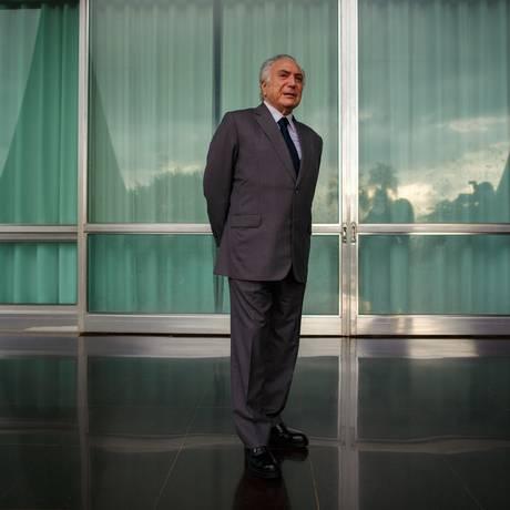 O presidente Michel Temer Foto: Daniel Marenco / Agência O Globo