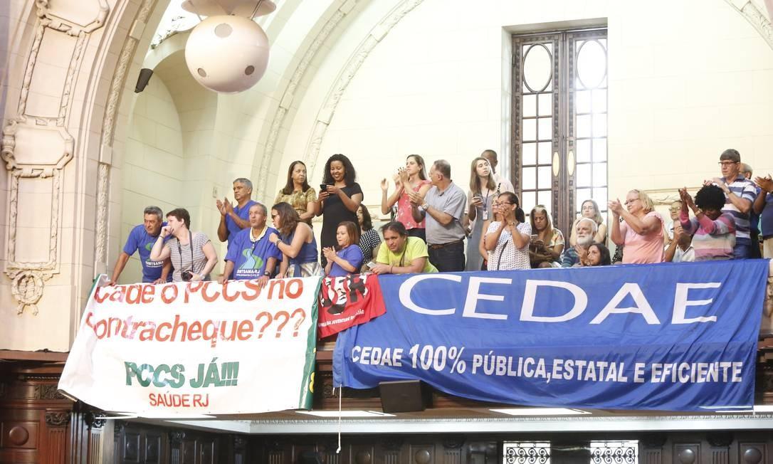 projeto da Assembleia Legislativa que retirou a Cedae do acordo do Regime de Recuperação Fiscal com a União. Foto: Marcos Ramos / Agência O Globo
