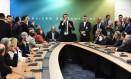 O presidente eleito Jair Bolsonaro se reúne com a bancada do PR no CCBB Foto: Divulgação/Rafael Carvalho