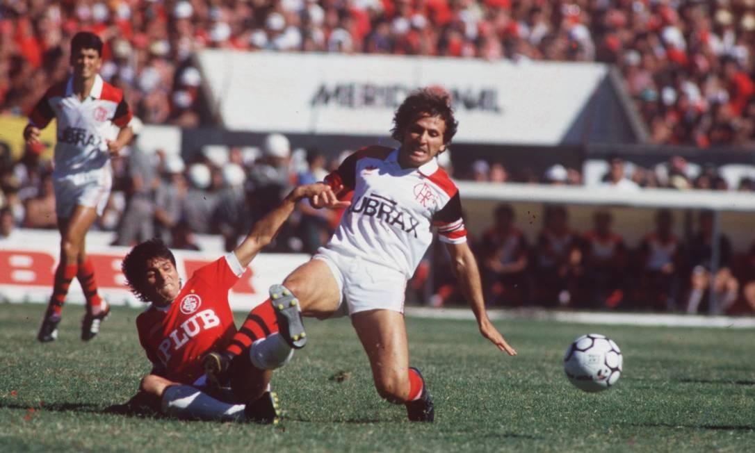 Copa União de 1987 foi a última conquista nacional de Zico pelo Flamengo Foto: Sebastião Marinho / Agência O Globo