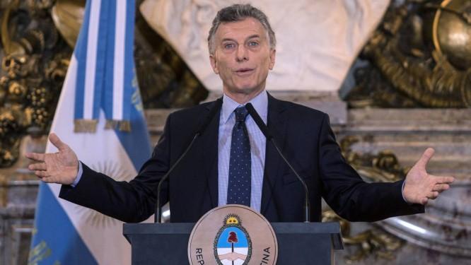 Presidente argentino, Mauricio Macri Foto: DANIEL VIDES / AFP