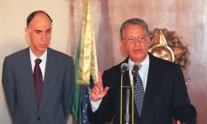 O ex-presidente Fernando Henrique e o vice Marco Maciel 20/11/97 Foto: Gustavo Miranda / Agência O GLOBO