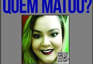 Laryssa da Silva Santos, 23 anos, foi assassinada com uma facada no pescoço Foto: Divulgação/ Disque-Denúncia