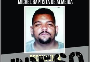 Michel Baptista de Almeida, conhecido como Menorzão foi preso na noite desta quarta-feira Foto: Divulgação