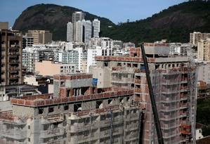 Prédios em construção em Botafogo, no Rio. Foto: Custódio Coimbra/12-5-2017