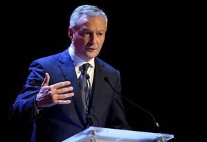O ministro de Finanças da Franla, Bruno Le Maire Foto: ERIC PIERMONT / AFP