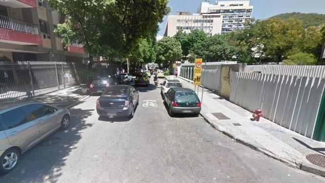 A Rua Machado de Assis, no Flamengo Foto: Google Street View / Reprodução