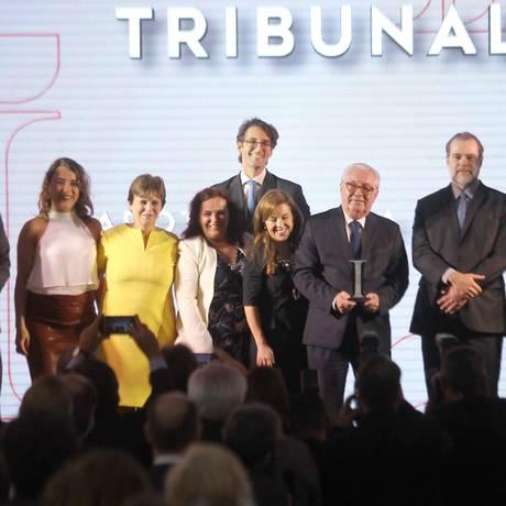 O presidente do STF, Dias Toffoli, participou da entrega do prêmio Innovare em Brasília Foto: Jorge William / Agência O Globo