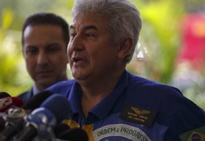 O astronauta e futuro ministro de Ciencia e Tecnologia, Marcos Pontes, concede entrevista coletiva no CCBB, em Brasília Foto: Daniel Marenco / Agência O Globo