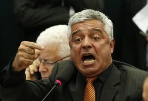 O deputado Major Olimpio durante discurso na Câmara Foto: Ailton de Freitas / O Globo