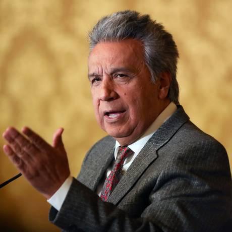 Presidente equatoriano, Lenín Moreno Foto: HO / AFP