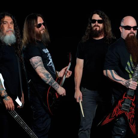 O grupo americano Slayer Foto: Divulgação