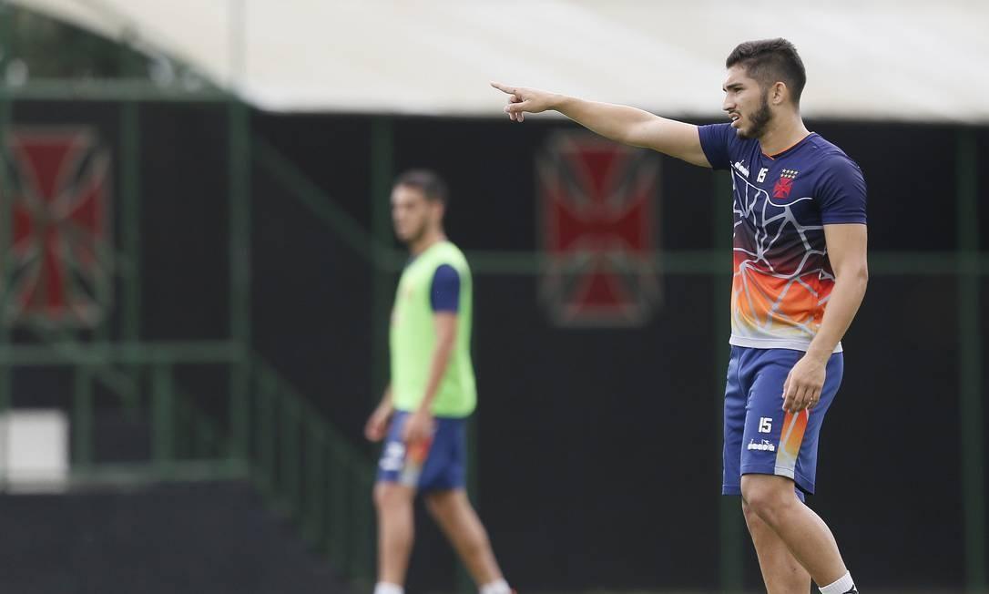 Andrey em treino do Vasco no CT do Almirante Foto: Divulgação/Vasco