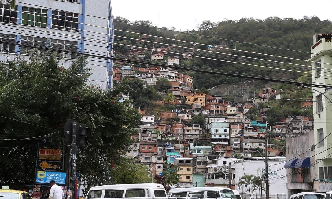 O Morro do Borel, na Tijuca Foto: Fabiano Rocha / Agência O Globo / Arquivo
