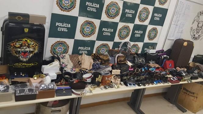 Material apreendido pela Polícia Civil Foto: Divulgação