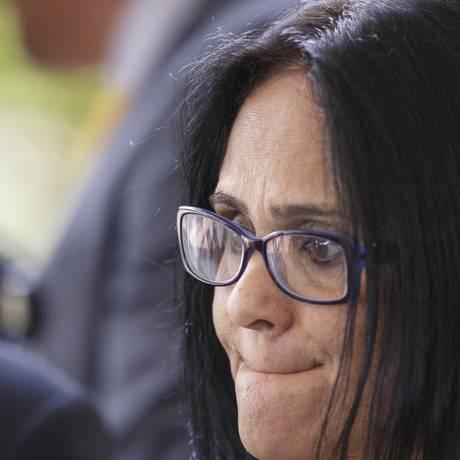 Futura ministra de Mulheres, Família e Direitos Humanos, pastora Damares Alves fala em Brasília após indicação Foto: Daniel Marenco / Agência O Globo