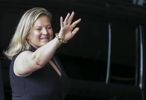 A deputada federal Joice Hasselmann, do PSL, no Centro Cultural Banco do Brasil (CCBB) Foto: Agência Brasil/EBC