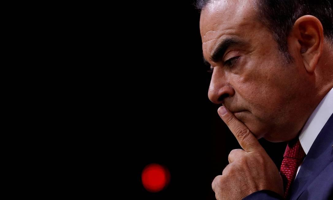 O executivo da Nissan Carlos Ghosn está preso no Japão desde 19 de novembro Foto: / Philippe Wojazer/Reuters