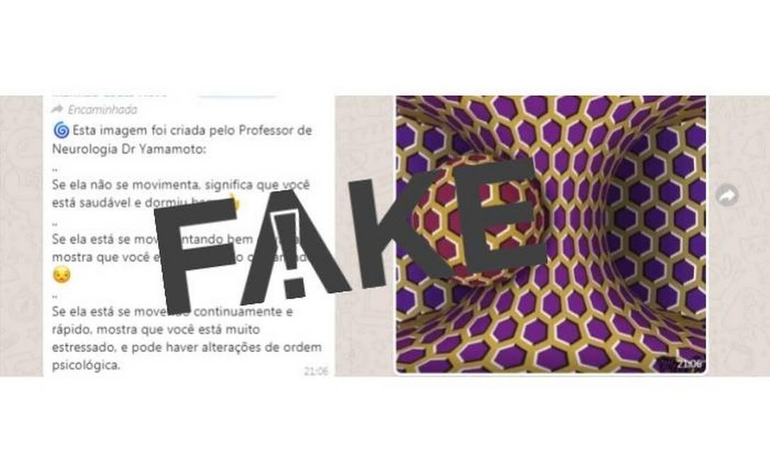 Mensagem falsa diz que imagem funciona como teste para stress Foto: Reprodução