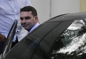 O deputado estadual e senador eleito Flavio Bolsonaro 30/10/2018 Foto: Alexandre Cassiano / Agência O GLOBO