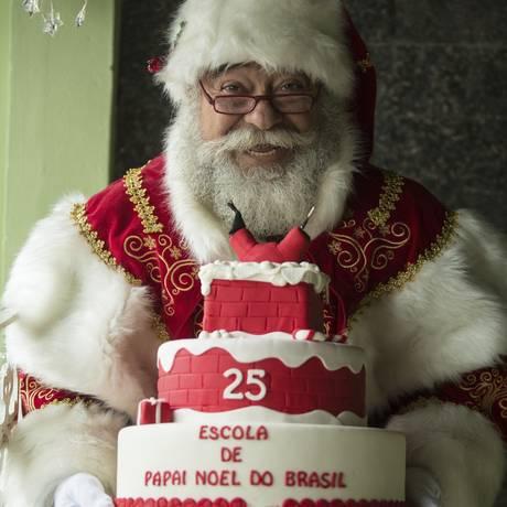 Curso de Papai Noel faz sucesso há 25 anos Foto: Brenno Carvalho / Agência O Globo