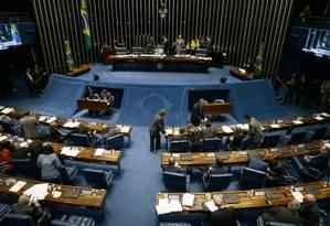 Eleição para o comando do Senado será realizada em fevereiro de 2019 Foto: Jorge William / Agência O Globo