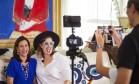 """Narcisa Tamborindeguy recebe Alice Caymmi em sua casa para gravação do programa """"Ai, que loucura!"""" Foto: Leo Martins / Agência O Globo"""