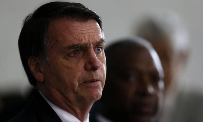 O presidente eleito, Jair Bolsonaro Foto: Jorge William/Agência O Globo/05-12-2018