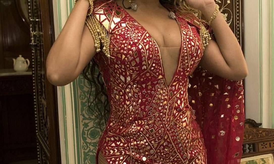 Beyoncé na união dos indianos Isha Ambani e Anand Piramal Foto: Beyonce.com