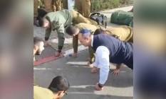 Wilson Witzel faz flexões em Israel Foto: Reprodução do Instagram