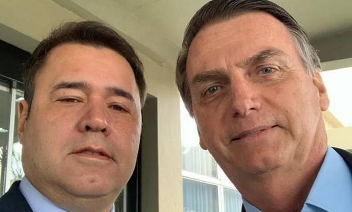 O secretário do Ministério da Saúde Marco Fireman e o presidente eleito Jair Bolsonaro Foto: Reprodução/Instagram
