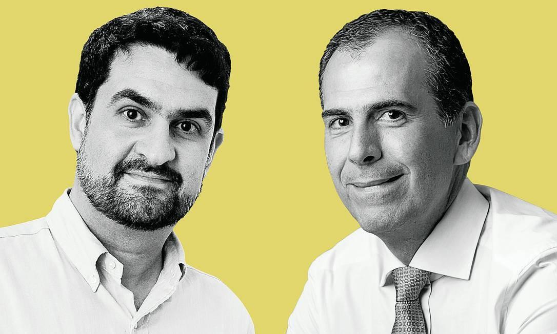 Julio Silveira e Marcos da Veiga Pereira Foto: Montagem sobre foto de Daniela Hallack Dacorso e Thiago Barros / Agência O Globo