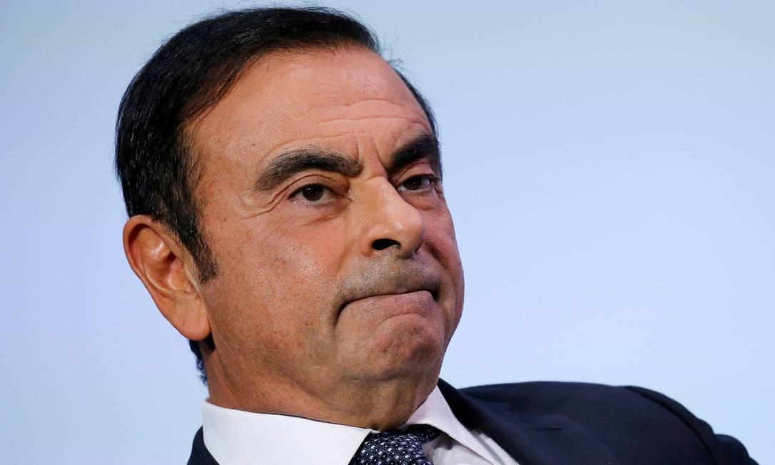 Carlos Ghosn, presidente da aliança Renault-Nissan-Mitsubishi, foi denunciado por má conduta financeira no Japão Foto: / Regis Duvignau/Reuters/1-10-2018