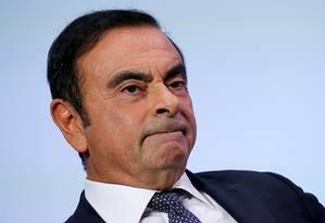 Carlos Ghosn, presidente da aliança Renault-Nissan-Mitsubishi, foi denunciado por má conduta financeira no Japão Foto: Regis Duvignau/Reuters/1-10-2018