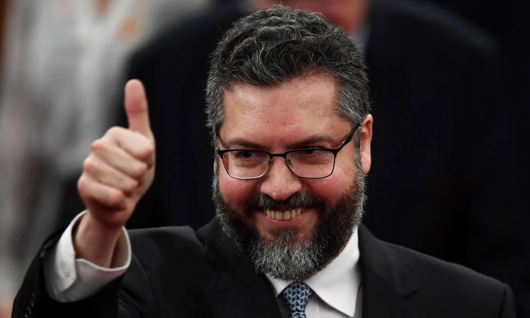 Futuro ministro das Relações Exteriores do governo Bolsonaro, Ernesto Araújo, em Brasília Foto: EVARISTO SA / AFP