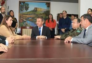 Governador eleito, Antonio Denarium (PSL), assumiu nesta segunda o cargo de interventor federal Foto: Divulgação