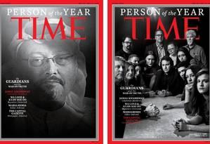 Jamal Khashoggi e equipe do jornal