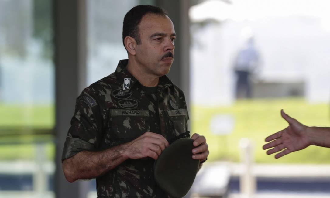 O general Richard Nunes: 'Ficamos preocupados com a transição sem uma secretaria para integrar as polícias' Foto: Gabriel de Paiva / Agência O Globo