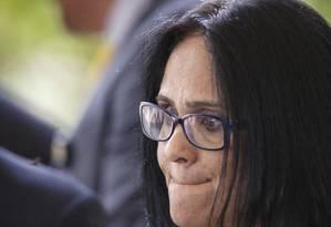 A futura ministra da pasta Mulher, Família e Direitos Humanos, Damares Alves Foto: Daniel Marenco / Agência O Globo