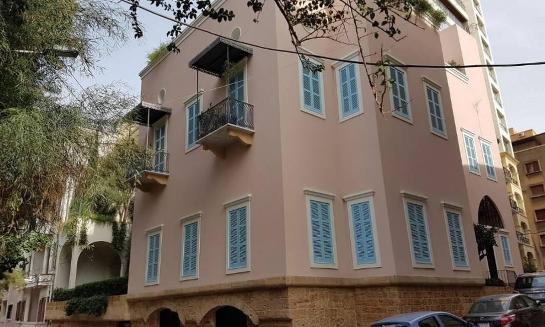 Mansão ocupada por Carlos Ghosn quando estava em Beirute, no Líbano Foto: / Bloomberg