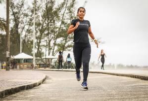 Ana Luiza Faria Matos, de 39 anos, é uma ultramaratonista Foto: Bárbara Lopes / Agência O Globo