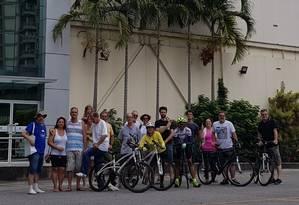 Integrantes do Vai de Bike querem incentivar o uso da bicicleta na região Foto: Luciano Vaz / Divulgação