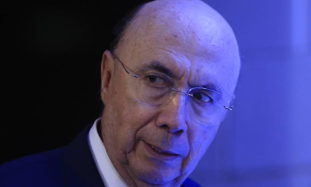 Ex-ministro da Fazenda, Henrique Meirelles Foto: Marcelo Theobald / Agência O Globo