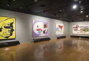Visão geral da exposicao de Jean-Michel Basquiat no CCBB, com curadoria de Pieter Tjabbes Foto: Ana Branco / Agência O Globo