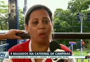 Testemunha foi salva por senhor que acabou morto por atirador em Campinas Foto: Reprodução