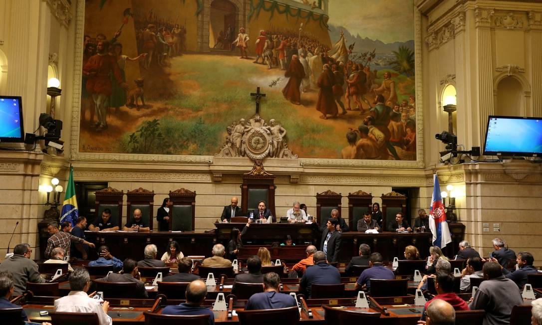 Plenário da Câmara durante audiência pública Foto: Fabiano Rocha / Agência O Globo