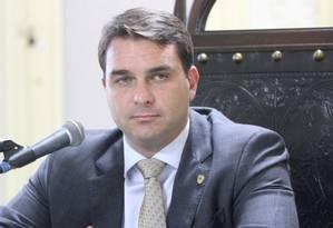 Deputado estadual e senador eleito Flávio Bolsonaro Foto: Arquivo O GLOBO