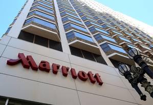 Fachada do hotel Marriott em São Francisco Foto: AFP
